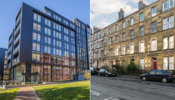 Comparing rents for Edinburgh new build and traditional properties